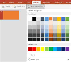 powerpoint design colors change the theme and background color of your slides office support