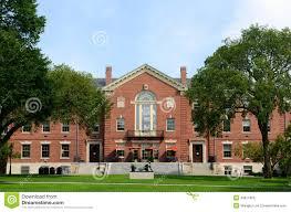 new england style brick college building stock photo image 58985072