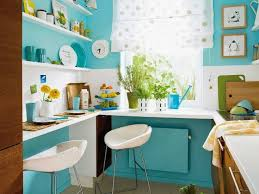 Space Saving Kitchen Design in Fun and Fresh Blue Color
