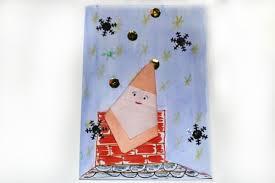 origami santa christmas card castle view academy