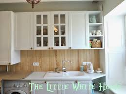 Kitchen Beadboard Backsplash by The Little White House On The Seaside Caution Wet Paint