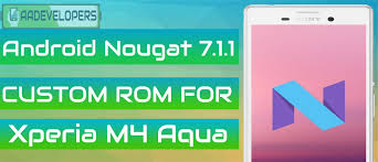 rom android android nougat 7 1 1 custom rom for xperia m4 aqua screenshots