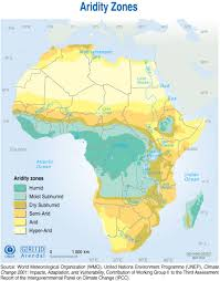 africa map climate zones aridity zones grid arendal
