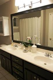 Frames For Mirrors In Bathrooms by Diy Frame The Giant Huge Mirror In The Kids Bathroom Instead Of