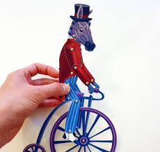 circus puppets diy circus zebra paper puppet doll set on pennyfarthing