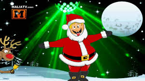 merry christmas and happy new year funny dance bboy santa claus
