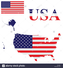 united states of america map with alaska and hawaii flag of the united states of america including alaska and hawaii