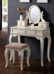Vanity Mirror And Bench Set Princess Off White Wood Vanity Mirror Bench Set Enchanting