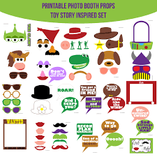 instant download toy story inspired printable photo booth prop