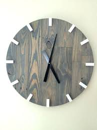reclaimed wood wall large cherry wood wall clock rossobianco me