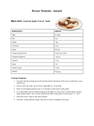 excel recipe card template expin magisk co