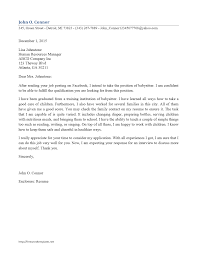 ideas collection cover letter examples for babysitting job for