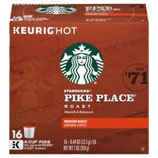 starbucks pike place roast coffee k cup pods 16ct target