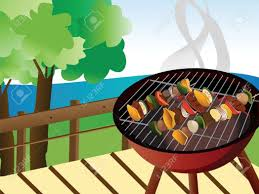 backyard bbq grill party royalty cliparts vectors and stock image