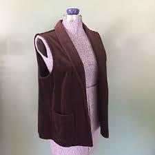 light brown vest womens vintage dark brown velvet long vest women s act iii with pockets ebay