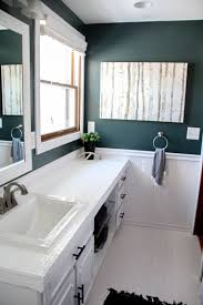 paint for bathroom walls how to paint tile countertops and our modern bathroom reveal