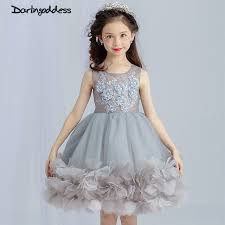 party frocks grey flower dresses for weddings baby party frocks