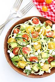noodle salad recipes summer zucchini noodle salad two peas their pod