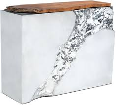 stainless steel console table zuo modern luxe natural and stainless steel console table luxe