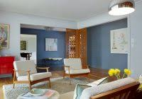 Mid Century Modern Living Room Furniture by Mid Century Modern Living Room Ideas With Blue Sofa And Round