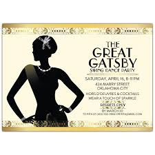 gatsby invitations gatsby flapper girl party invitations paperstyle