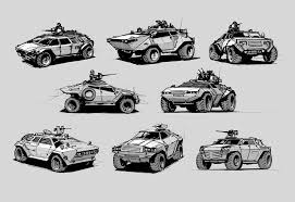 armored vehicles light armored vehicles sketches by alex ichim on deviantart