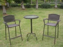 3 Piece Bar Height Patio Set Round Patio Dining Sets On Sale Foter