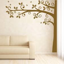 large half tree wall sticker