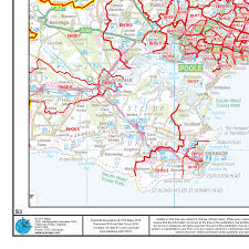 Map Of Southern England by Postcode Sector Map S3 Central Southern England Wall Map