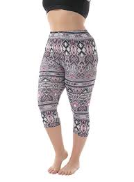 summer style capri zerdocean women s plus size lightweight printed capri leggings for