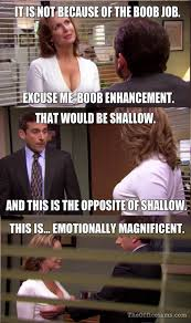 Boobs Meme - the office isms michael scott memes