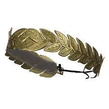 gold headband laurel leaf costume headband gold clothing