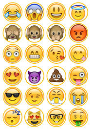 emoji 2 edible premium wafer paper cupcake toppers