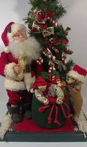 Mrs Claus Animated Christmas Decorations by Holiday Creations Santa Claus Animated Musical Motionette 1995