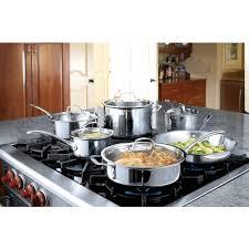 calphalon tri ply stainless steel 13 piece cookware set walmart com