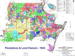 Madison Map Madison Parish Plantation And Landowners 1875 1979