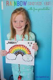st patrick u0027s day rainbow candy kids u0027 craft u0026 free printable