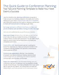 conference planning guide top tips and planning template