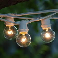 Outdoor Bulb Lights String by Target White Satin Frosted Globe String Lights G40 Bulbs Indoor