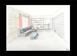 comment dessiner un canapé en perspective comment dessiner un salon dessin urbain comment