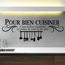 autocollant cuisine stickers noir créative stickers muraux pour cuisine décorat