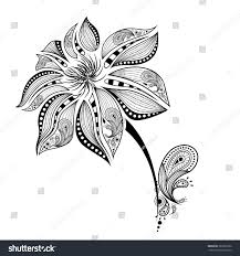 Indian Flower Design Hand Draw Abstract Flower African Indian Stock Vector 367822922