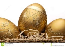 gold easter eggs golden easter eggs stock images image 13478464