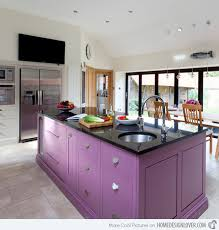 kitchen central island 16 nicely painted kitchen cabinets home design lover