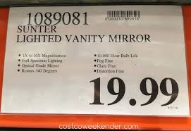 Costco Vanity Mirror With Lights by Sunter Natural Daylight Vanity Mirror Costco Weekender