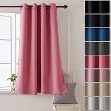 rideau pour chambre bébé deconovo rideau uni isolant thermique rideau occultant à oeillet