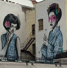 murals no idle hands here two japanese women mural los angeles st dtla
