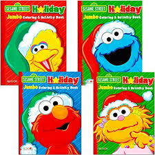 sesame street christmas coloring book super 4 jumbo christmas