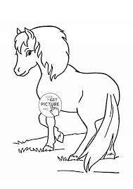 beautiful pony coloring page for kids for girls coloring pages
