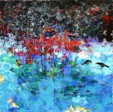 colazione size large artwork mixed media palette knife